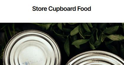 Store Cupboard Food